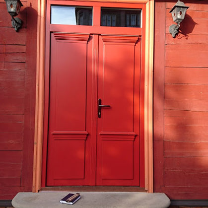 Koka durvis dubultās